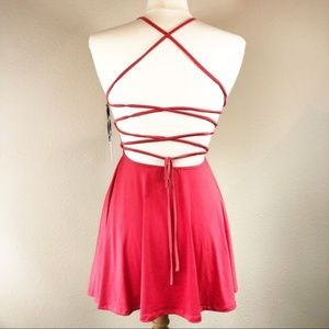 Lovers + Friends Strappy Red Mini Dress Backless